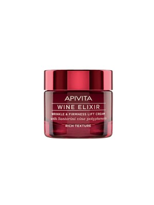 Apivita - Wine elixir Wrinkle & Firmness Lift Cream - Rich Texture with Santorini vine polyphenols, 50ml