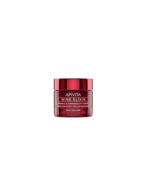 Apivita - Wine elixir Wrinkle & Firmness Lift Cream - Rich Texture with Santorini vine polyphenols, 50ml