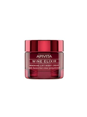 Apivita - Wine elixir Renewing Lift Night Cream with Santorini vine polyphenols, 50ml