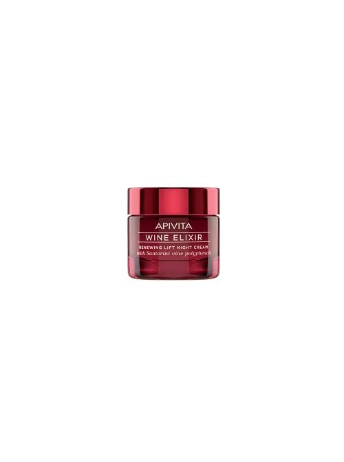 Apivita - Wine elixir Renewing Lift Night Cream with Santorini vine polyphenols, 50ml