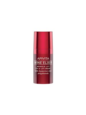 Apivita - Wine elixir Wrinkle Lift Eye & Lip Cream with Santorini vine polyphenols, 15ml