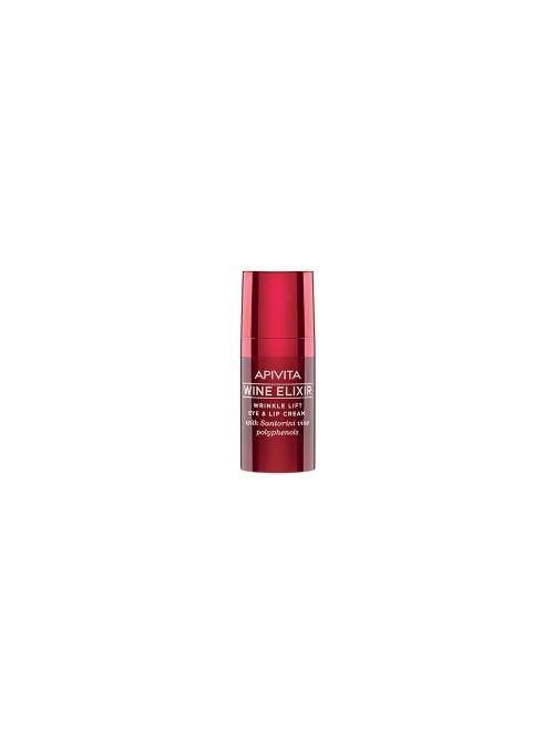 Apivita - Wine elixir Wrinkle Lift Eye & Lip Cream with Santorini vine polyphenols, 15ml