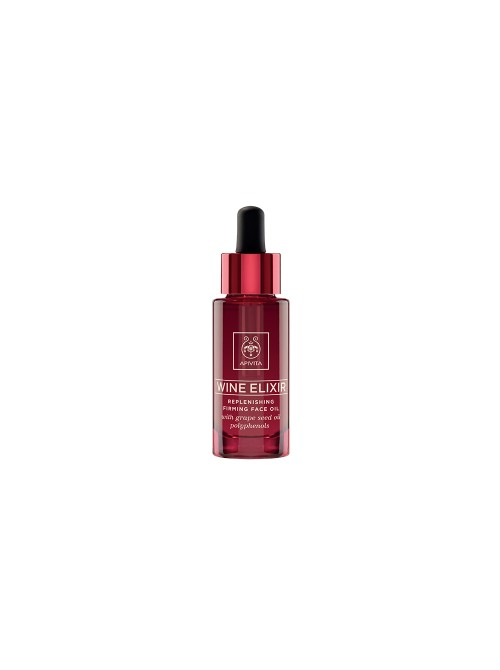 Apivita - Wine elixir Replenishing Firming Face Oil with Grape seed oil polyphenols, 30ml