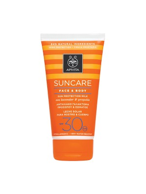 Apivita - SUNCARE Sun Protection Face & Body Milk SPF 30 - High Protection with Sea Lavender & Propolis, 150ml