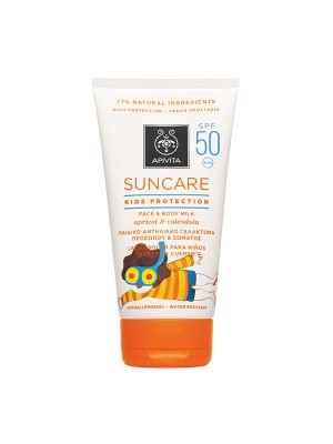 Apivita - SUNCARE Kids Protection Face & Body Milk SPF 50 - High Protection with Apricot & Calendula (Marigold), 150ml