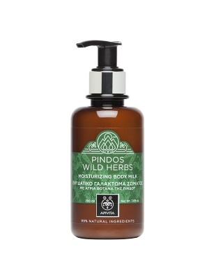 "Apivita - PINDOS WILD HERBS Moisturizing Body Milk - Support ""Eco-Literacy"" Cause with Spearmint & Sage, 200ml"