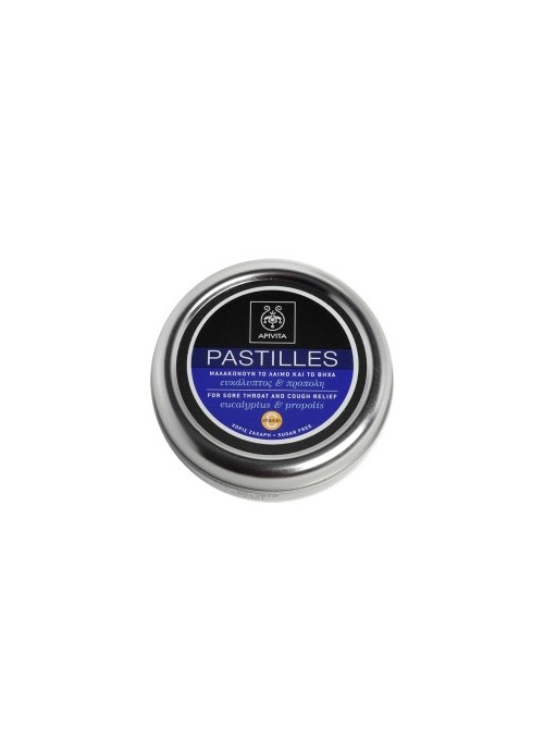Apivita - PASTILLES Pastilles for Sore Throat and Cough Relief with Eucalyptus & Propolis, 45g