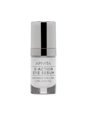 Apivita - 5 ACTION EYE SERUM Intensive Care Eye Serum with White lily, 15ml