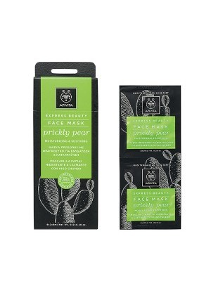 Apivita - EXPRESS BEAUTY Moisturizing & Soothing Face Mask with Prickly Pear, 2x8ml