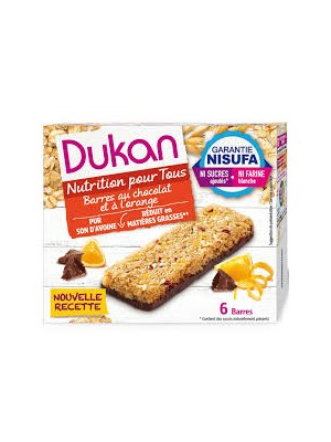 DUKAN - Orange Chocolate Barsι ,150g