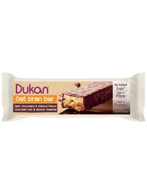 DUKAN - Gourmet Chocolate Coated Oat Bran Bars with Nougat Layer, 1 bar