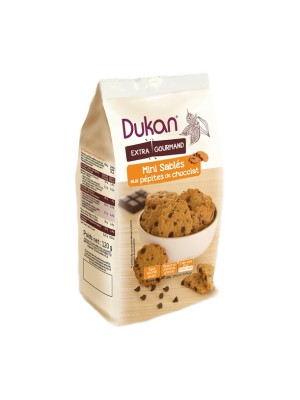 dukan - mini oat bran cookies with chocolate chips, 100gr