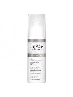 Uriage - Depiderm Fluid Anti-Taches SPF 15 Depigmenting Cream, 30ml
