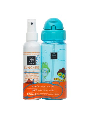 Apivita - Kids Protection Face and Body Spray SPF50 + GIFT Kids Water Bottle, 150ml