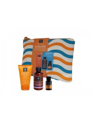 Apivita - Apivita Suncare Spf30 Wrinkle Anti-Wrinkle Face Cream & Gift Scrub 75ml & Sunscreen Oil, 20ml