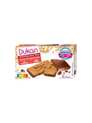 dukan - chocolate covered oat cookies, 200gr, 12pcs