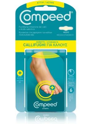 Compeed - Corn Active Plasters Medium, 6 Items