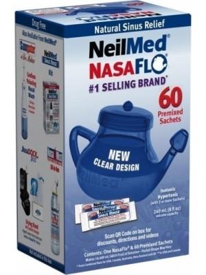 NeilMed - Nasaflo Netipot, 60 Premixed Sachets