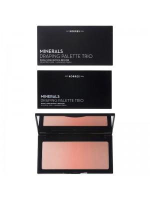 Korres - Minerals Draping Palette Trio Blush, Highlighter & Bronzer Coral Palette , 21gr