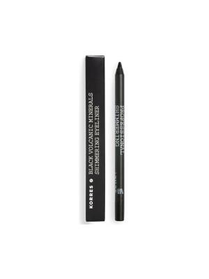 Korres - BLACK VOLCANIC MINERALS Professional Shimmering Eyeliner - 01 Black, 1.2g