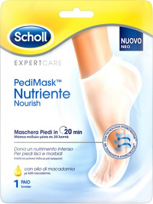 Scholl - PediMask Nutriente Nourish Macadamia Oil Foot Nourishing Mask, 1Pair
