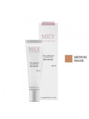 Mey - BB Tone Correcting & Moisturising Cream Medium SPF25, 40ml