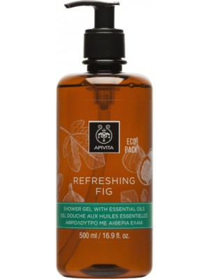 Apivita - REFRESHING FIG Shower Gel with Essential Oils Ecopack with Fig, 500ml