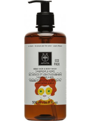 Apivita - KIDS Hair & Body Wash with Tangerine & Honey, 500ml