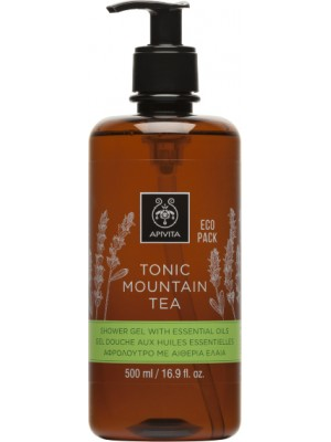 Apivita - TONIC MOUNTAIN TEA Shower Gel with Essential Oils Ecopack with Mountain Tea, 500ml