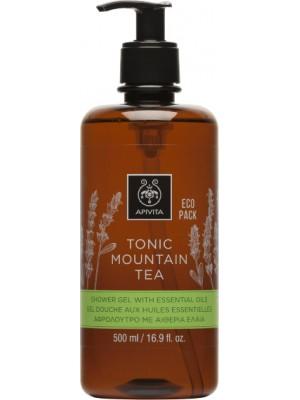 Apivita - TONIC MOUNTAIN TEA Shower Gel with Essential Oils Ecopack with Mountain Tea, 500ml