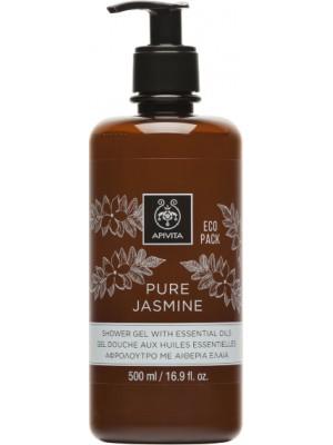 Apivita - PURE JASMINE Shower Gel with Essential Oils Ecopack, 500ml