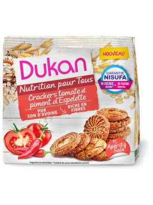 Dukan - Crackers tomatoes with Espelette chilli pepper, 100gr