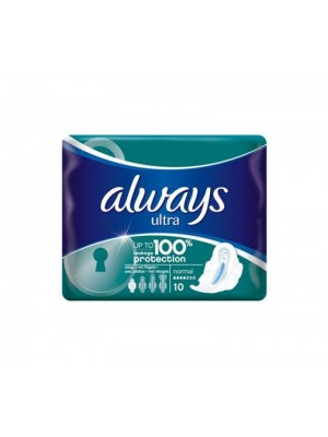 Always - Ultra Normal Plus Pads With Wings, 10Items