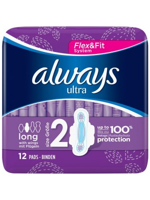 Always - Ultra Long Plus Pads With Wings, 8 Items