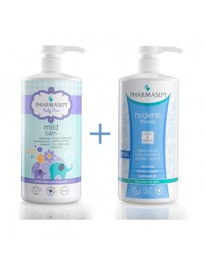Pharmasept - Tol Velvet Baby Mild Bath 1LT + Hygienic Shower Cleansing Shower For The full body, 1LT