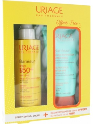 Uriage - Bariesun SPF50+ Spray 200 ml & Repairing Balm After Sun, 150ml