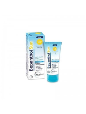 Bepanthol - Sun SPF50+ Sunscreen Face Cream For Sensitive Skin, 50ml