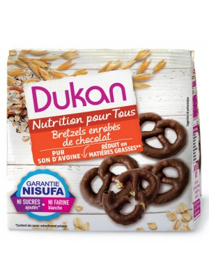 DUKAN - Chocolate-coated Pretzels, 100g