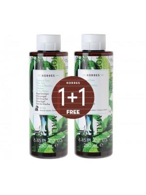 Korres  - 1+1 Free Shower Gel Mint Tea, 2x250ml
