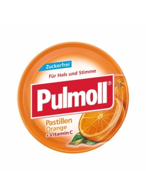Pulmoll - Lozenges Orange Vitamin C, 45g