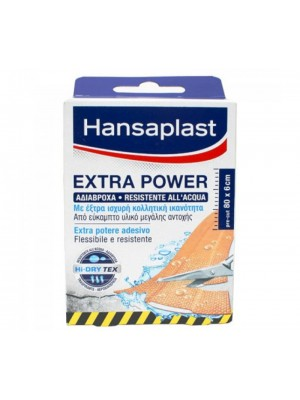 Hansaplast - Extra Power Waterproof Pads 80 X 6cm, 8 Strips