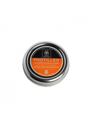 Apivita - Pastilles for Sore Throat and Cough Relief, with Vitamin C, 45g