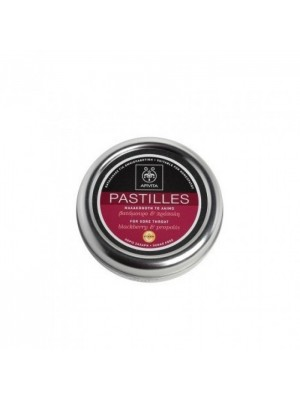 Apivita - Pastilles for Sore Throat with Vitamin C, blackberry & propolis, 45g