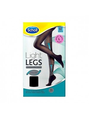 Scholl - Light Legs 60Den Black L