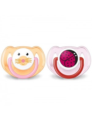 Philips AVENT - Orthodontic Pacifier with animals (2x), 6-18m, SCF182/24