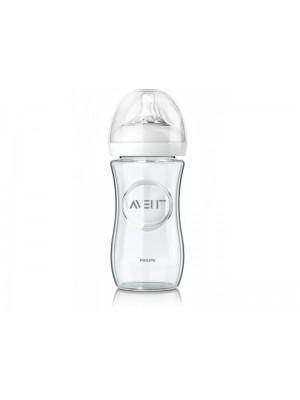 Philips AVENT - Natural Glass Bottle, 240ml, SCF673/17