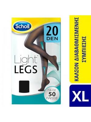 Scholl - Light Legs 20den -Black - Size XL
